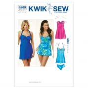 Kwik Sew Ladies Easy Sewing Pattern 3609 Swimsuit Dress