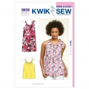Kwik Sew Ladies Sewing Pattern 3610 Summer Top & Dress