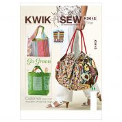 Kwik Sew Accessories Sewing Pattern 3612 Totes & Hand Bags