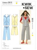 Kwik Sew Ladies Sewing Pattern 3615 Casual Tracksuit