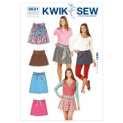 Kwik Sew Ladies Easy Sewing Pattern 3631 Summer Skirts