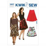 Kwik Sew Ladies Sewing Pattern 3637 Circular Skirts & Belt
