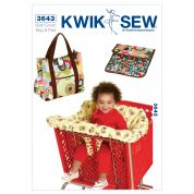Kwik Sew Sewing Pattern 3643 Shopping Cart Seat Cover & Diaper Bag with Changing Pad