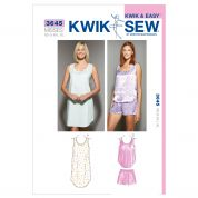 Kwik Sew Ladies Easy Sewing Pattern 3645 Sleepwear Nightgown & Pyjamas