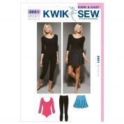 Kwik Sew Ladies Sewing Pattern 3661 Leotards, Leggings & Skirts