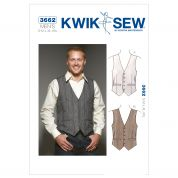 Kwik Sew Men's Sewing Pattern 3662 Smart Waistcoats