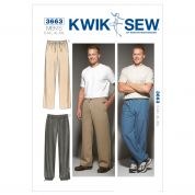 Kwik Sew Mens Easy Sewing Pattern 3663 Casual Pants