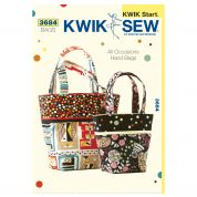 Kwik Sew Accessories Easy Learn to Sew Sewing Pattern 3684 All Occasion Bags