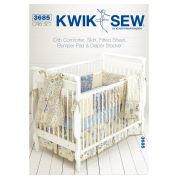 Kwik Sew Home Decor Sewing Pattern 3685 Crib Comforter, Skirt, Fitted Sheet, Bumper Pad & Diaper Stacker