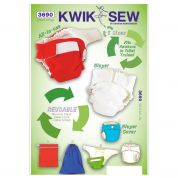 Kwik Sew Baby Sewing Pattern 3690 Diapers, Diaper Cover, Insert & Bags