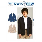 Kwik Sew Boys Sewing Pattern 3697 Smart Blazer Jacket