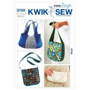 Kwik Sew Accessories Easy Sewing Pattern 3700 Hand Bags & Clutch Bag