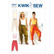 Kwik Sew Ladies Sewing Pattern 3701 Harem Pants & Vest Tops