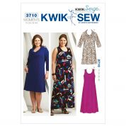 Kwik Sew Ladies Plus Size Easy Sewing Pattern 3710 Dresses