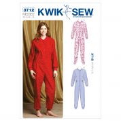 Kwik Sew Ladies Easy Sewing Pattern 3712 Onesie All in one Pyjamas