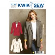 Kwik Sew Ladies Sewing Pattern 3715 Lined Blazer Jackets