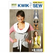 Kwik Sew Ladies Easy Learn to Sew Sewing Pattern 3717 Waistcoat Tops