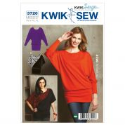 Kwik Sew Ladies Easy Sewing Pattern 3720 Batwing Style Tops