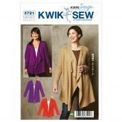 Kwik Sew Ladies Easy Sewing Pattern 3721 Dolman Sleeve Cardigans