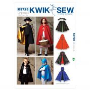Kwik Sew Childrens Unisex Sewing Pattern 3723 Capes for Costumes