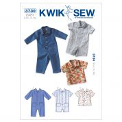 Kwik Sew Childrens Sewing Pattern 3730 Boys Overalls & Shirts