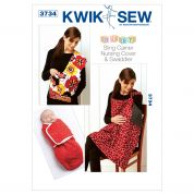 Kwik Sew Baby Sewing Pattern 3734 Swaddler, Sling Carrier & Nursing Cover