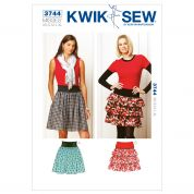 Kwik Sew Ladies Easy Sewing Pattern 3744 Gathered & Ruffle Skirts