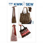 Kwik Sew Accessories Easy Sewing Pattern 3749 Fashion Hand Bags