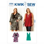 Kwik Sew Ladies Plus Size Sewing Pattern 3754 Dress & Tunic