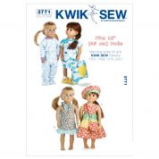 Kwik Sew Crafts Sewing Pattern 3771 Doll Clothes Day & Night Wardrobe