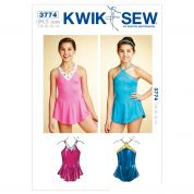 Kwik Sew Childrens Sewing Pattern 3774 Girls Dancewear Leotards