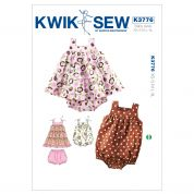 Kwik Sew Baby Sewing Pattern 3776 Dress, Bloomers & Romper