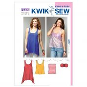 Kwik Sew Ladies Easy Sewing Pattern 3777 Jersey Tops