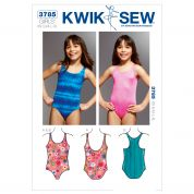 Kwik Sew Childrens Easy Sewing Pattern 3785 Swimming Costume Swimsuits