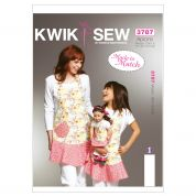 Kwik Sew Ladies, Girls & Dolls Easy Sewing Pattern 3787 Matching Aprons