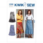 Kwik Sew Ladies Sewing Pattern 3789 Patchwork Skirts