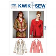 Kwik Sew Ladies Sewing Pattern 3796 Princess Seam Jackets