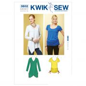 Kwik Sew Ladies Easy Sewing Pattern 3802 Jersey Tops