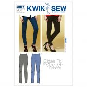 Kwik Sew Ladies Sewing Pattern 3807 Very Close Fitting Pants