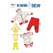 Kwik Sew Baby Sewing Pattern 3811 Jackets, Pants & Romper