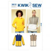 Kwik Sew Ladies Sewing Pattern 3813 Jacket & Gilet Waistcoat