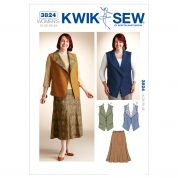 Kwik Sew Ladies Plus Size Sewing Pattern 3824 Waistcoat & Skirt