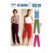 Kwik Sew Ladies Easy Sewing Pattern 3835 Racer Back Top & Pull On Pants