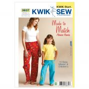 Kwik Sew Ladies & Girls Easy Learn to Sew Sewing Pattern 3837 Pyjama Bottoms