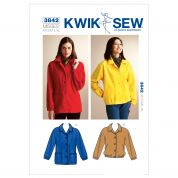 Kwik Sew Ladies Sewing Pattern 3842 Loose Fitting Jackets