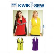 Kwik Sew Ladies Sewing Pattern 3845 Waistcoats Sleeveless Jackets