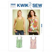 Kwik Sew Ladies Sewing Pattern 3848 Tank Tops