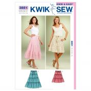 Kwik Sew Ladies Sewing Pattern 3851 Tiered Skirts