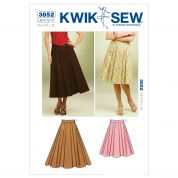 Kwik Sew Ladies Sewing Pattern 3852 Full Flared Skirts