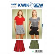 Kwik Sew Ladies Sewing Pattern 3854 Fitted Shorts